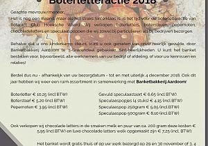 Bestel nu uw boterletter of ander lekkers voor het goede doel bij Rotaract HW