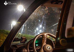 Automobilist ramt boom, auto totallos