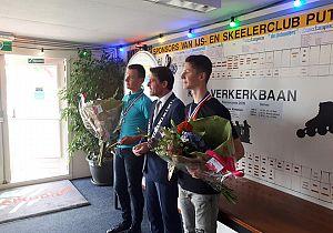Winnaars goud en zilver NK Inlineskaten gehuldigd in Puttershoek