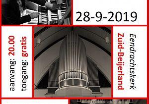 Vierhandig orgelconcert in Zuid-Beijerland door Marien Stouten en Jan Peter Teeuw