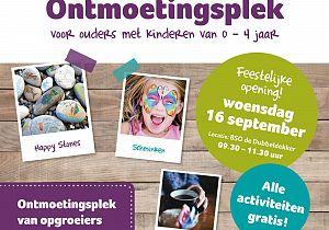 Ontmoetingsplek voor ouders met kinderen van 0-4 jaar opent 16 september haar deuren!
