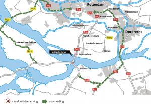Vanaf 26 juli maximaal 50 km op de Haringvlietbrug (A29)