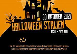 Halloween Strijen vieren in de wijk Noord