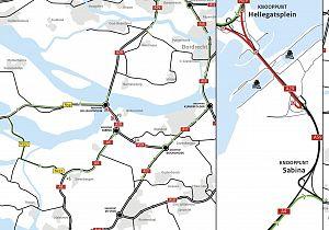 4 weekendafsluitingen A29 richting Bergen op Zoom