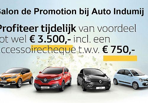 Profiteer van tot wel 3.500 euro voordeel tijdens Salon de Promotion bij Auto Indumij!