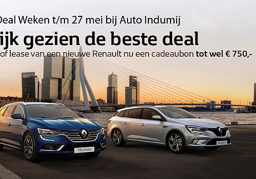 Renault Business Deal weken bij Auto Indumij!