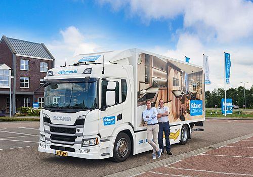 Tieleman Keukens en Scania verlengen samenwerking met splinternieuwe vrachtwagen